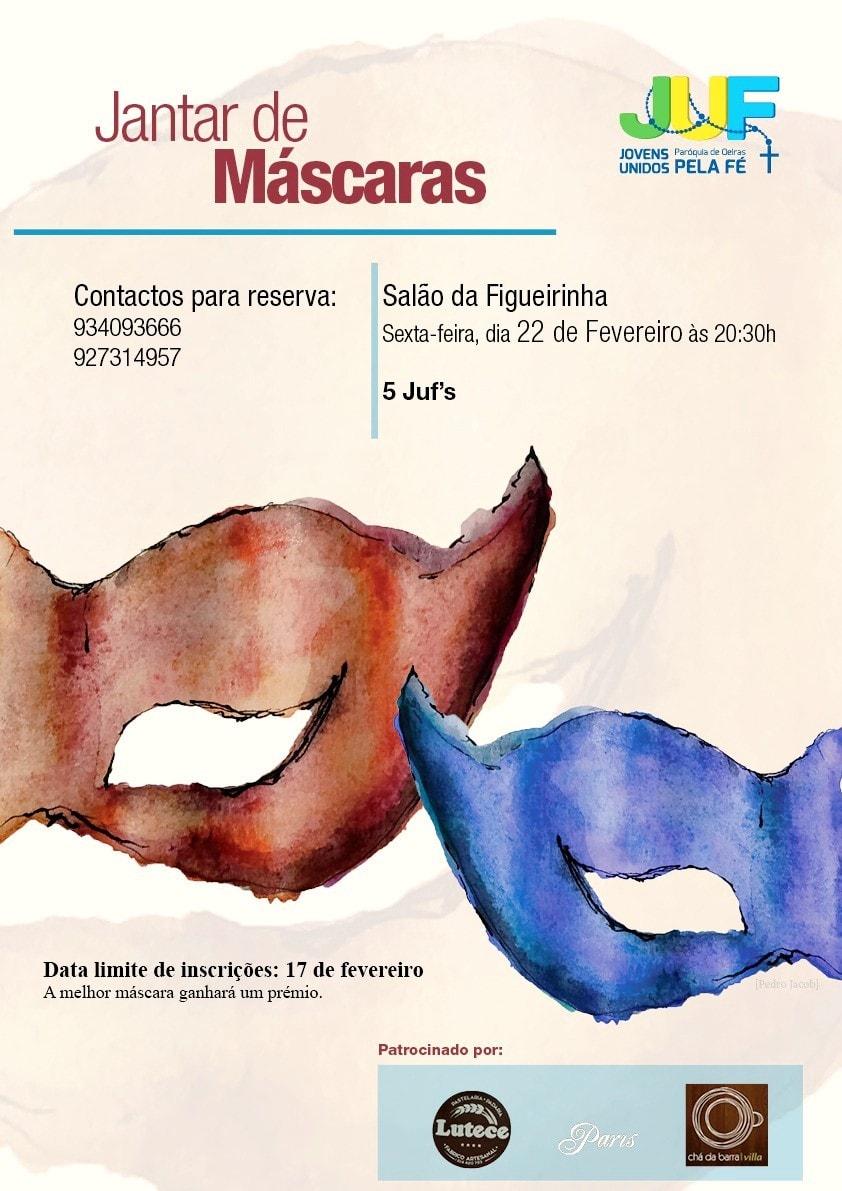 JANTAR DE MÁSCARAS