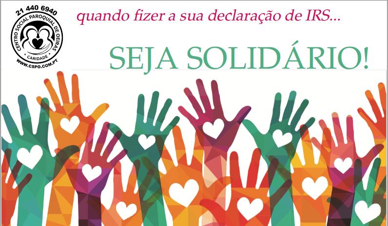 Ajude com 0,5% do seu IRS o Centro Social Paroquial de Oeiras
