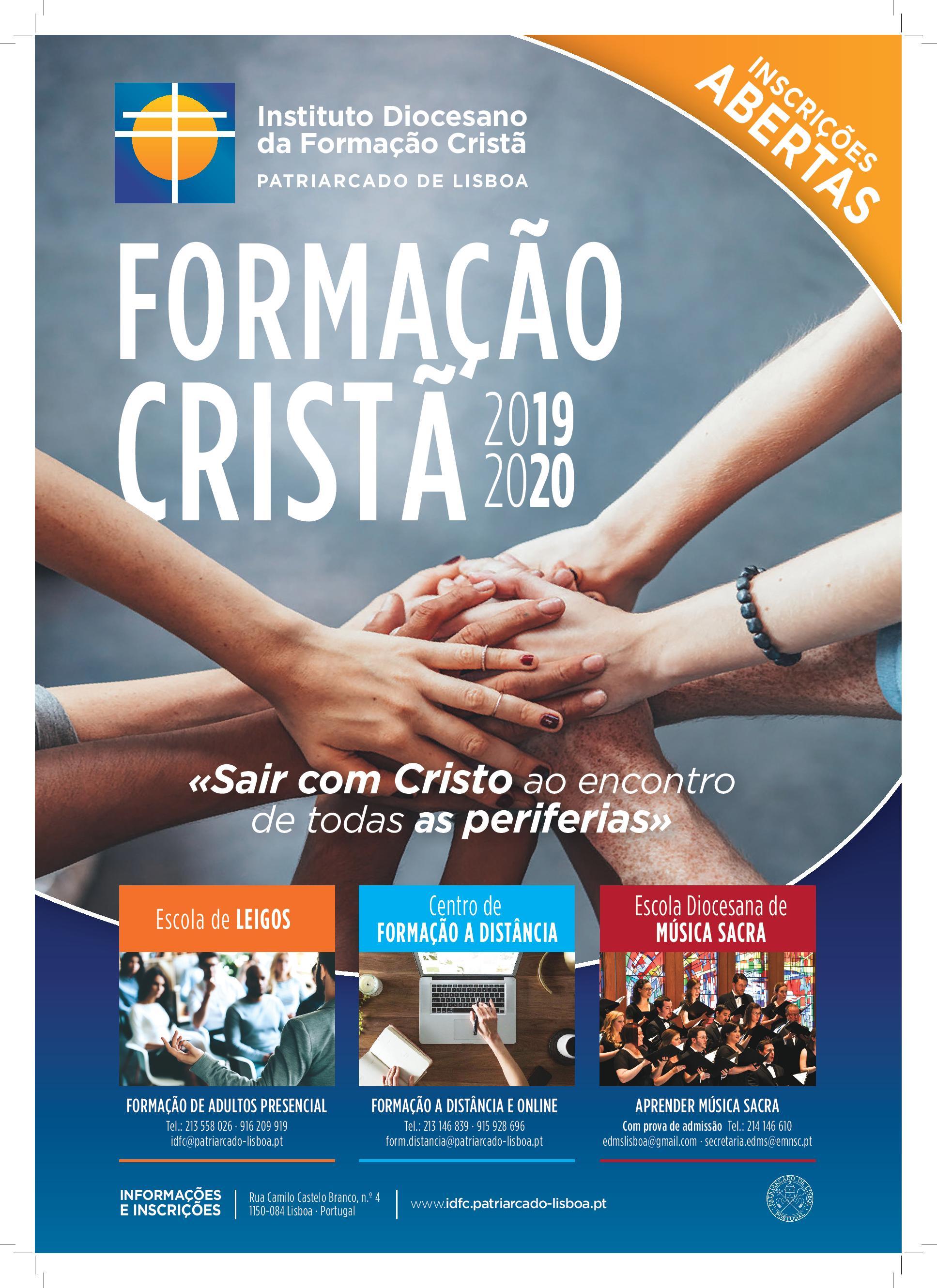 Instituto Diocesano da Formação Cristã – Novo Ano Pastoral 2019-2020