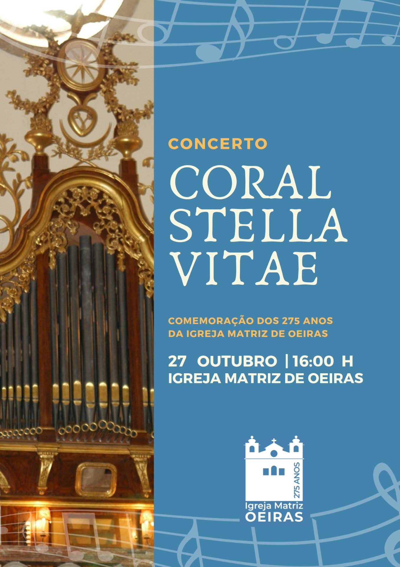 Coral Stella Vitae abriu a festa dos 275 anos da Igreja de Oeiras