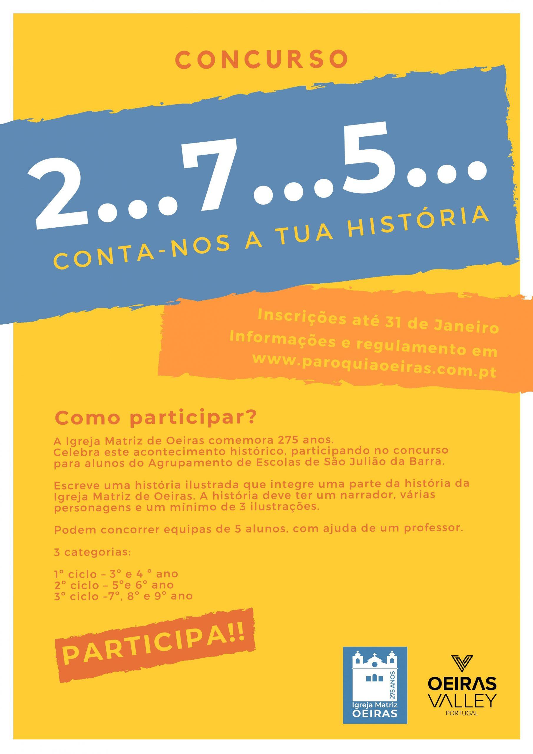 """Concurso """"2…7…5… conta-nos a tua história"""""""