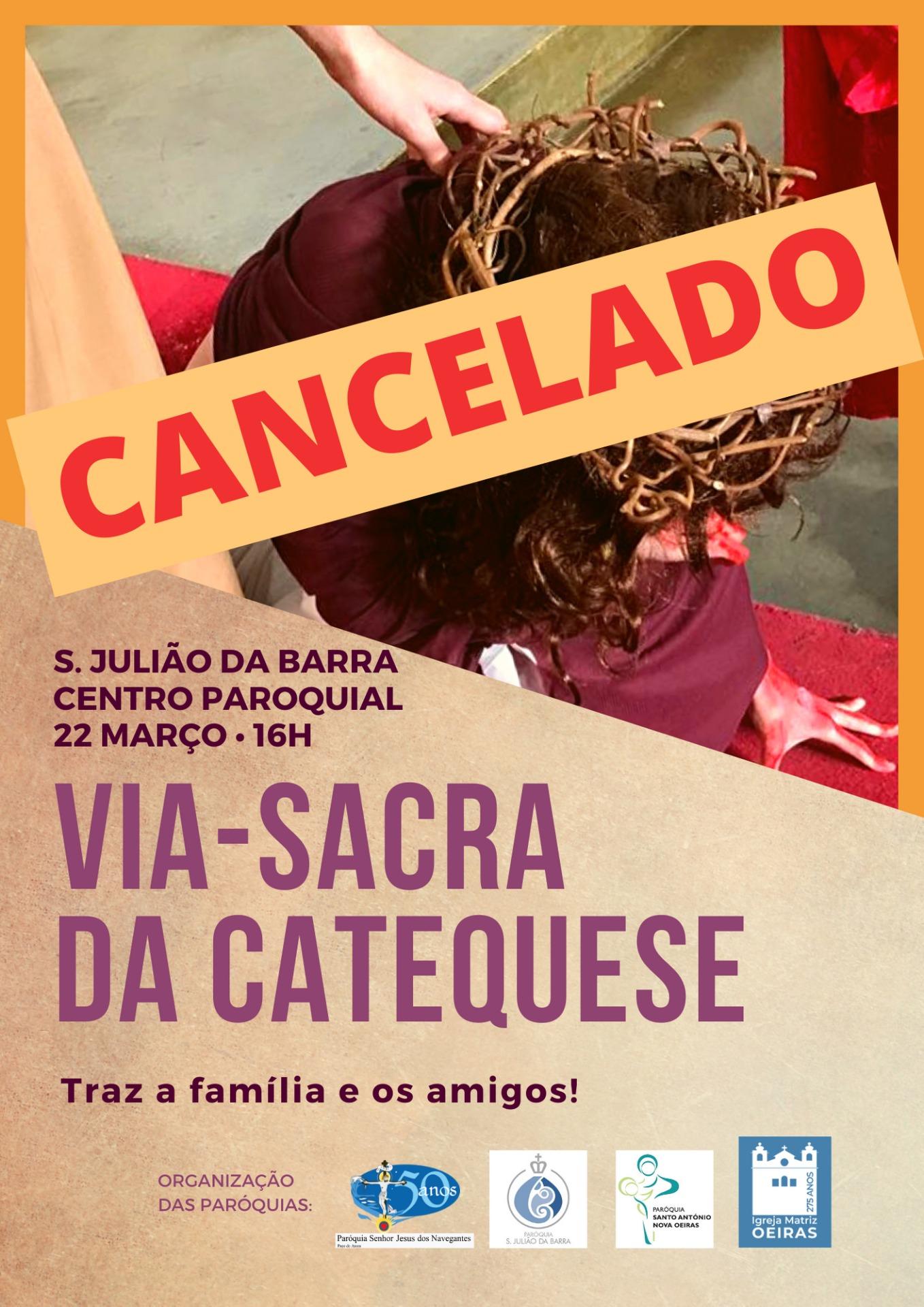 Cancelamento da Via-Sacra da Catequese